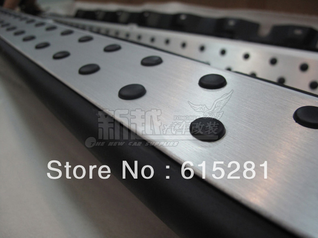 X3 2008-2010 Side Step Bar Running Board,Aluminium Alloy+Engineering Plastics,Automobile Accessories Decoration,Wholesale Price.
