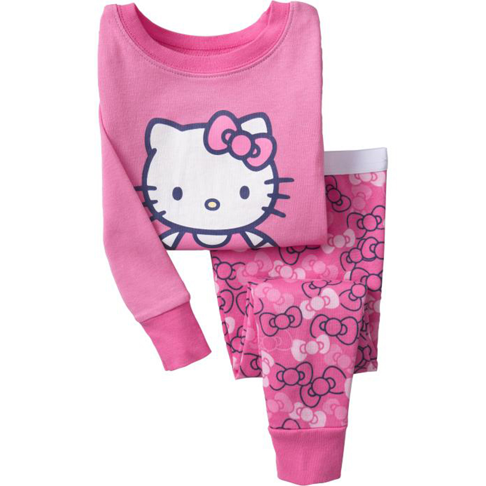 Winter Girls Clothes Set 2016 Children Clothing Set Hello Kitty Girls Tracksuit Kids Clothes Christmas Pajamas(China (Mainland))