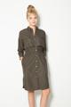S 3XL Fashion 2016 Korean style Office elegant khaki drawstring Waist Long trench coat for women