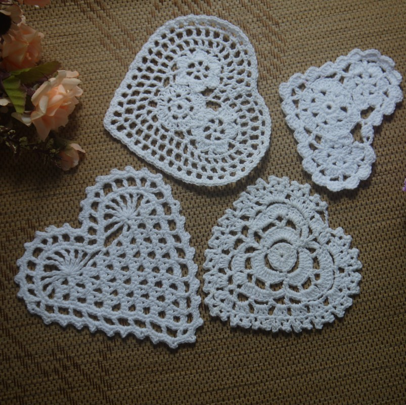 Free Crochet Pattern For Heart Doily : Aliexpress.com : Buy Free Shipping Each Design 20PCS Heart ...