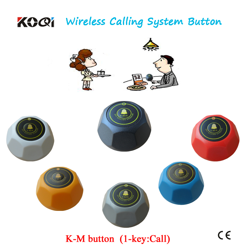 Hot sale KOQI Guest Table Ordering Buzzer K-M with 6 different color for restaurant service equipment(China (Mainland))