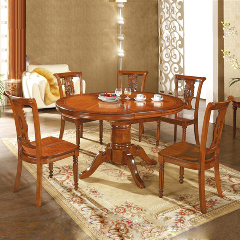 solid wood dining tables and chairs combination of red walnut oak