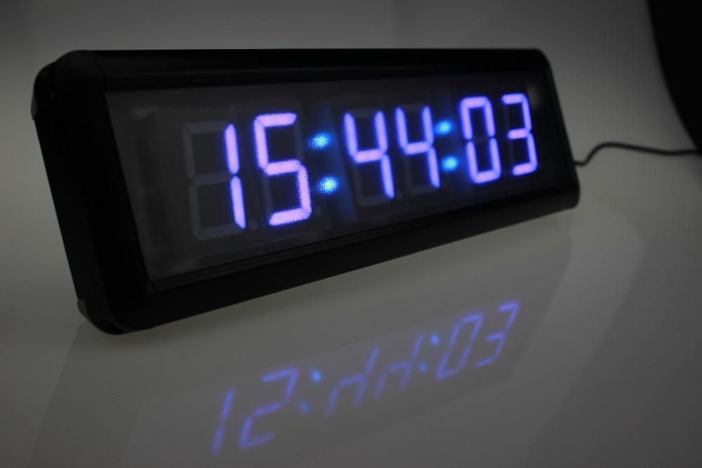 w remote control large led digital wall watch big gym