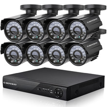 8ch HD full 960h CCTV system 8ch video surveillance hybrid DVR KIT 8*800TVL outdoor security camera system NVR for ip camera