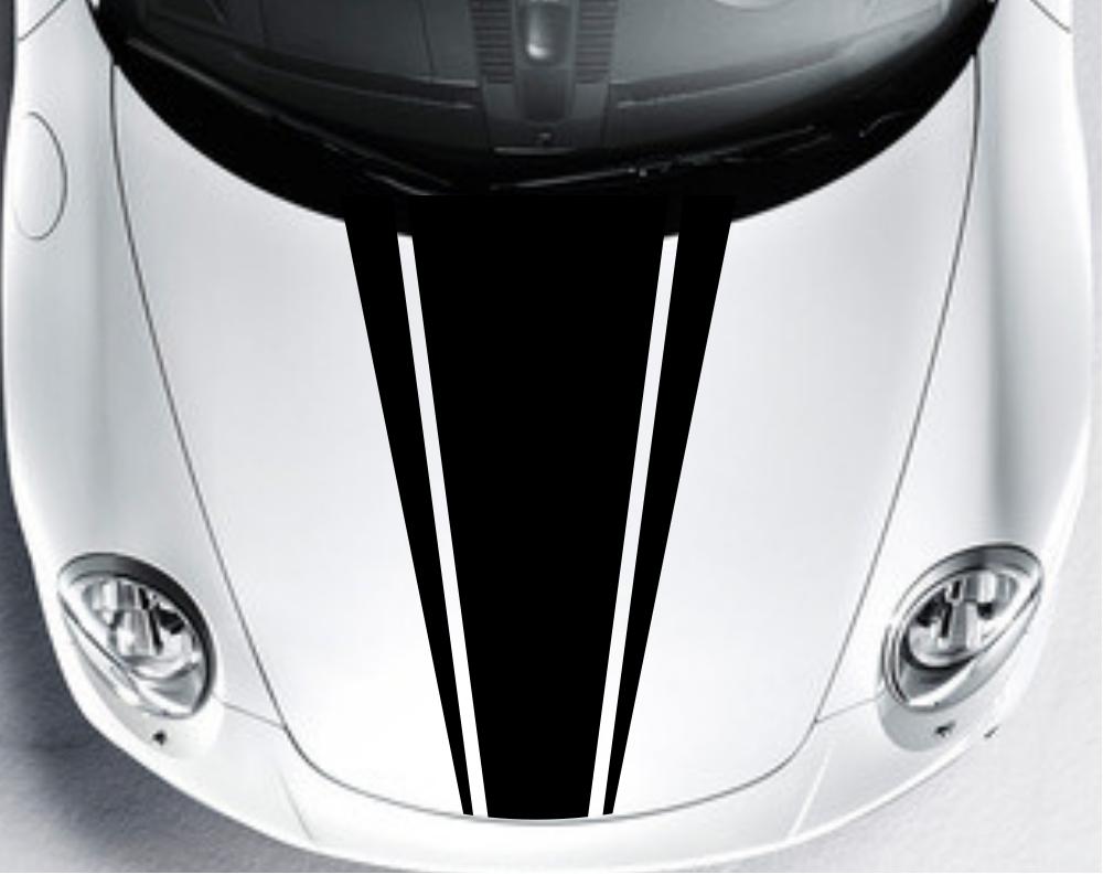 Car Decal Vinyl Graphics stickers Hood decals Dual Racing Stripe #CG300(China (Mainland))