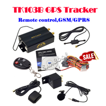 Hot TK 103B GPS SMS tracker TK103B with remote control Free PC version software google maps link real time tracking(China (Mainland))