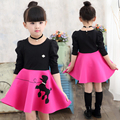2017 new fashion baby girl dress summer brand sleeveless princess dress for girls kids clothing bow dress for party and wedding