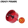 CRAZY POWER 80mm Bi metal Hole Saw Core Drill Bit Power tools Metal Drilling Drill Bit