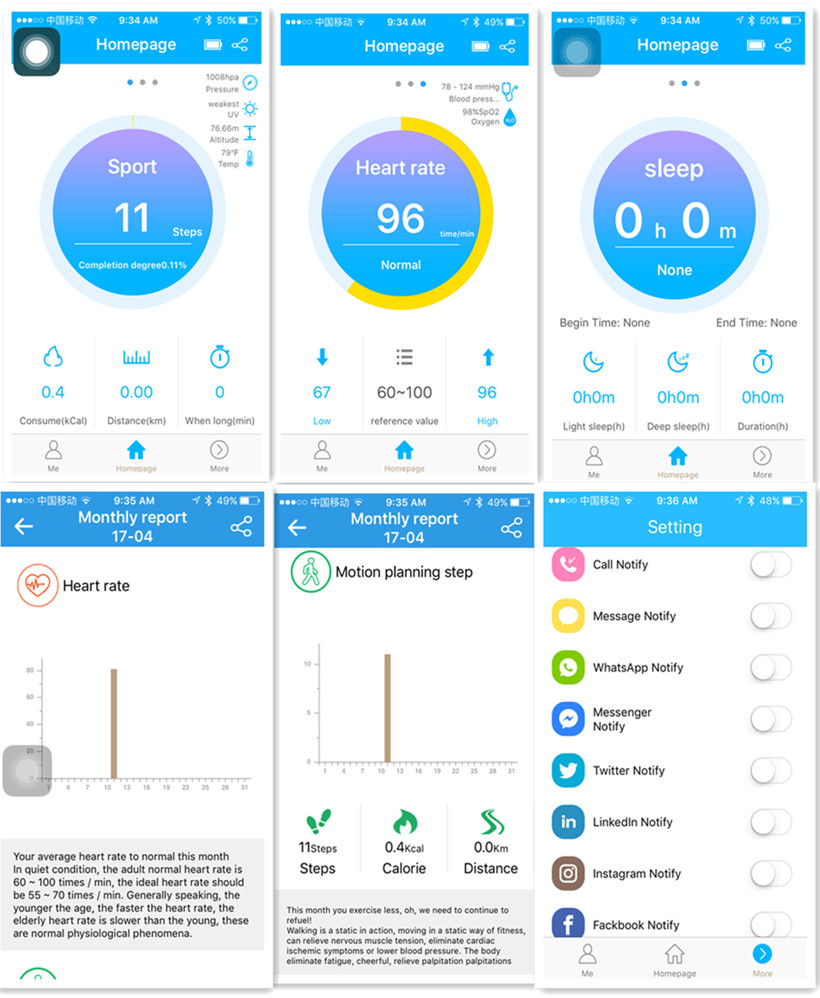 image for Teamyo Y2 Plus Smart Band Pulse Heart Rate Fitness Tracker Smart Brace