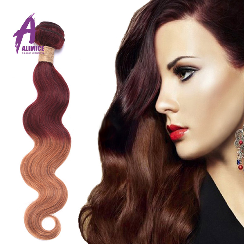 Fashioh Style Ombre Hair Extensions 10 pcs per lot Two Colors No Shedding Body Wave Hair Weft<br><br>Aliexpress