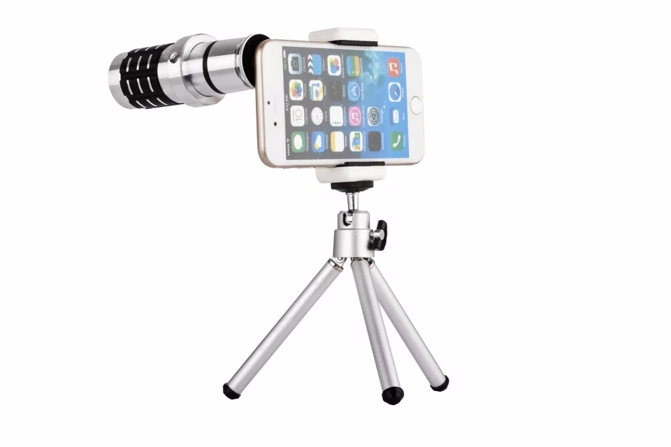 Hot with Tripod Lenses Phone Lens Universal Wide Camera Lens 12X Telephoto Lens ojo de pez For iPhone Lens olho de peixe !)