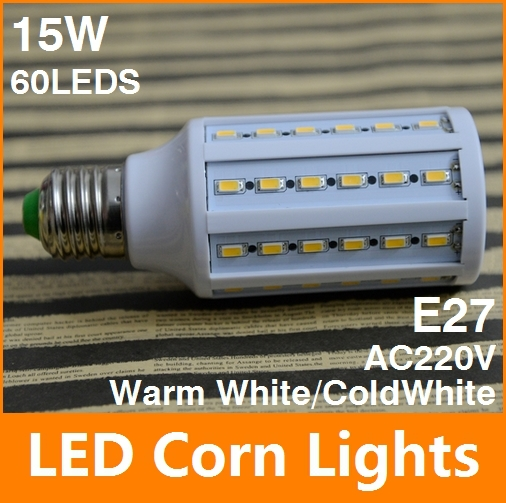 15W E27 60leds SMD5630 2400LM 360 degree LED Corn Bulb AC200-240V Warm White / white High Luminous Efficiency led Light Lamp - Tomtop supermarket store