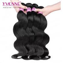4 Bundles Body Wave Indian Virgin Hair,Cheap Human Hair,Aliexpress YVONNE Hair Products,Natural Color 1B(China (Mainland))