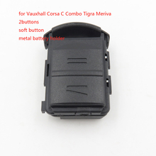1pcs Cocolockey 2016 NEW remote key case with battery holder and stickers for Vauxhall Corsa C Combo Tigra Meriva Free shipping