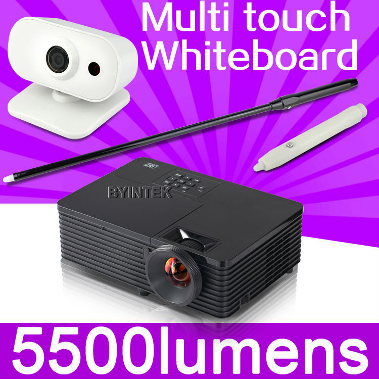 interactive classroom presentation home theater HDMI 1080p full HD 3D DLP Projector Proyector with portable whiteboard system(China (Mainland))