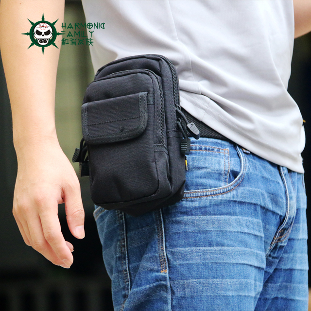 Tactical Molle PALS Waist Pack Utility Military Belt Bag Travel Army Mobile Phone Pouch Hiking Running Outdoor Sports - Live good hao's store