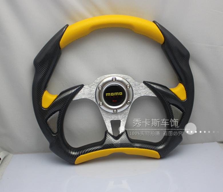 Shelf> Modified steering wheel momo 14 automobile race steering wheel general pvc carbon steering wheel(China (Mainland))