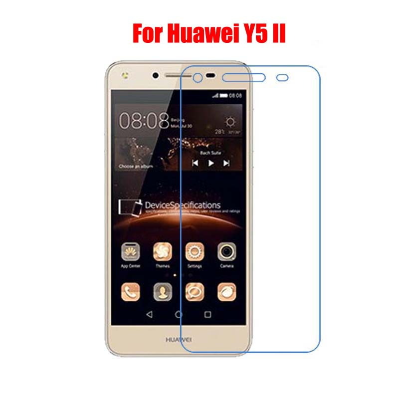 9H Tempered Glass Screen Protector Film For Huawei Y5II 5.0 + Alcohol Cloth + Dust Absorber(China (Mainland))