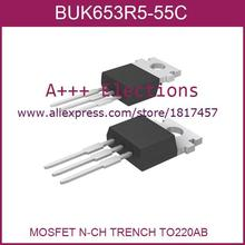 Electronic Voltage Regulator BUK653R5-55C,127 MOSFET N-CH TRENCH TO220AB BUK653R5-55C 653 BUK653 5pcs