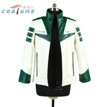 Space Battleship Yamato Navigation Team Uniform White Green Jacket Coat For Men Anime Halloween Cosplay Costume Film ver.Custom(China (Mainland))
