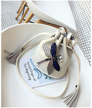 2017 baellerry Новое поступление Мода Bolsa feminina Популярные дамские кисточкой сумка-мешок креативный Стрекоза Форма Для женщин Сумки(China)