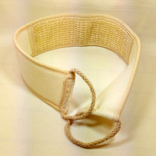 Buy Flax Cotton Soft Exfoliating Back Strap Bath Brush Shower Massage Spa Scrubber Sponge Body Skin Health Cleaning Sale HG for $1.32 in AliExpress store