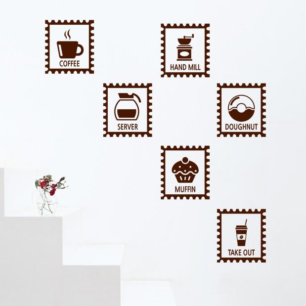 Ice Cream Shop Vinyl Wall Decal Coffee Shop Drinks Shop Ice Cream Logo Wall Sticker Restaurant Window Glass Door Wall Decoration(China (Mainland))