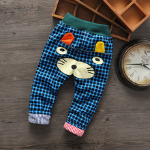 NEW Kids Cartoon jeans Trousers cotton Children's pants Boys Girls Casual Pants ripped Kids Sports trousers jeans for girls(China (Mainland))