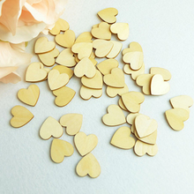 3cm (150pcs/lot) Wood heart love blank unfinished natural crafts supplies wedding ornaments(China (Mainland))