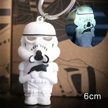 Star War LED Flashlight LED Keychain Darth Vader Keychain Stormtrooper Light emitting Funny Toys(China (Mainland))