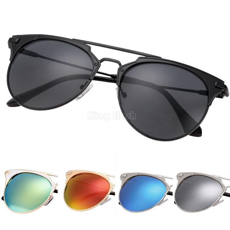 2015 New Metal Frame Big Lens Sunglasses women brand designer European Style Fashion Summer sun glasses Party shades - KING FLASH ELECTRONIC CO., LIMITED store