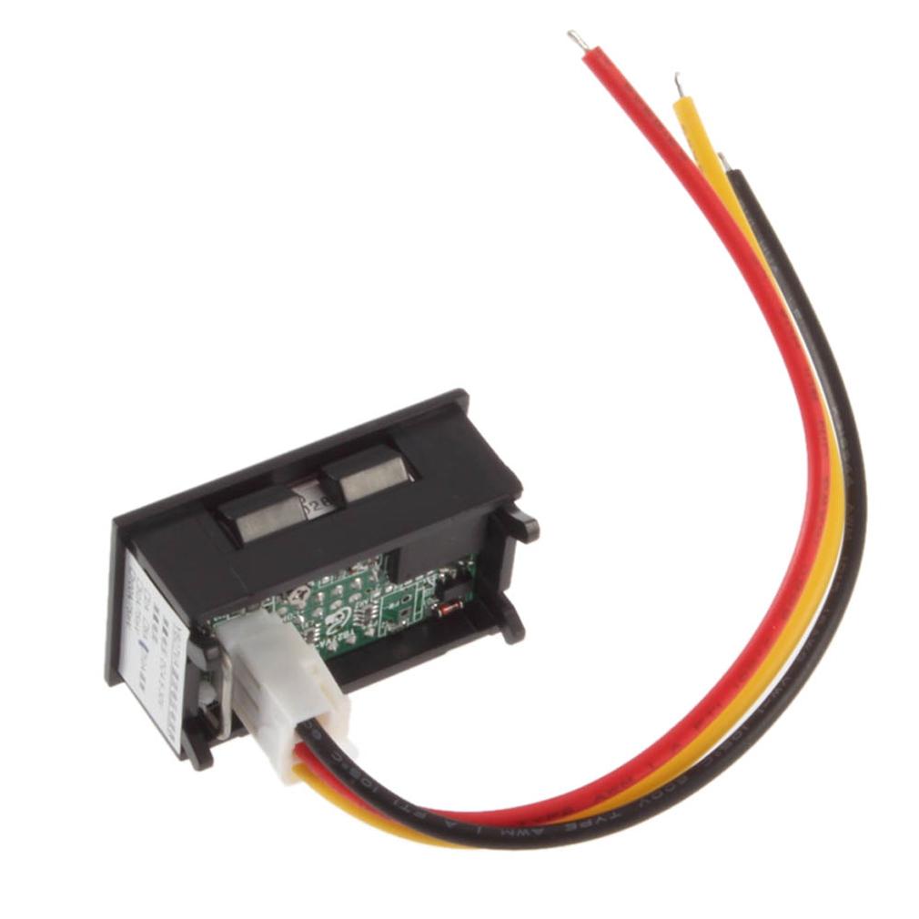 Dc 100v 100a Voltage Voltmeter Ammeter 2in1 Volt Amp Dual Display Digital Lcd Panel Meter Red Blue