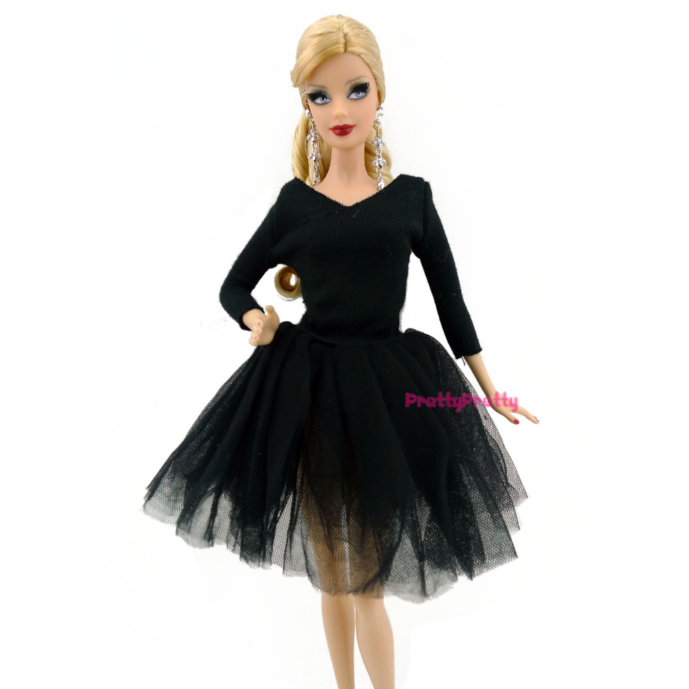 FREE SHIPPING Handmade Ballet Dress Party Gown Princess Clothes Outfit For Barbie Doll Girl Best Christmas Gift Baby Toys(China (Mainland))