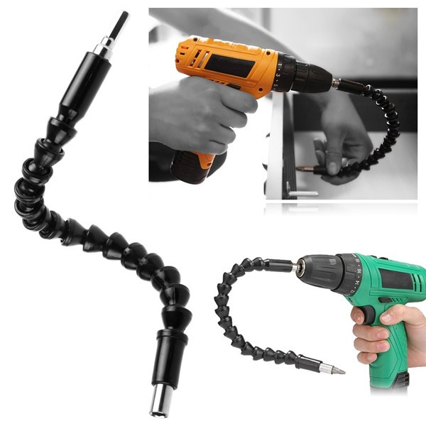 3 pcs/Lot _ 290mm Flexible Shaft Bit Extention Screwdriver Drill Bit Holder Connect Link for Electronic Drill<br><br>Aliexpress
