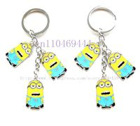 Wholesale New 6pcs  Despicable Me  Key Chains Key Ring Accessories Car Key Free Shipping
