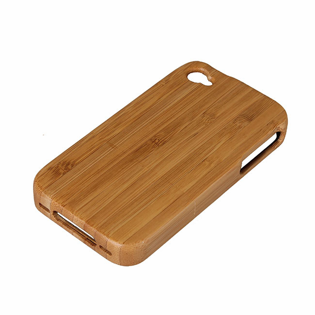Excellent Genuine Bamboo Wood Shell iphone4 Back Cover Wooden Case Carving Natural Covers Apple Iphone 4 4S - Kingdom store