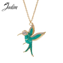 Buy JOOLIM Jewelry Wholesale/ Cute Oil Plated Green Bird Pendant Nekclace Sweater Necklace Fashion Jewelry for $2.50 in AliExpress store