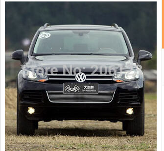 Free Shipping! Front Center Grill Grid Grille Cover Trim For 2011-2013 for vw Volkswagen Touareg V6 Fast air ship(China (Mainland))