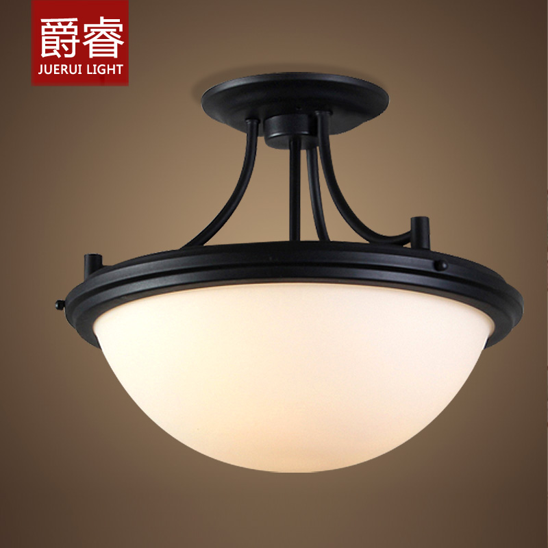 Ceiling Lamp Glass Cover: American Country Industrial Vintage Brief Loft Ceiling