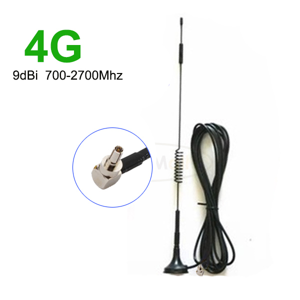 9 dBi 700-2700MHz 3G 4G Antenna CRC9 Connector for GSM CDMA WCDMA TD-SCDMA Extension Cable 3M RG174(China (Mainland))