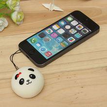 Wholesale High Quality Cute Cartoon Face Squishy Buns Panda Bag Key Mobile Phone Straps Pendant 4cm Chain Cellphone Hot Sale(China (Mainland))