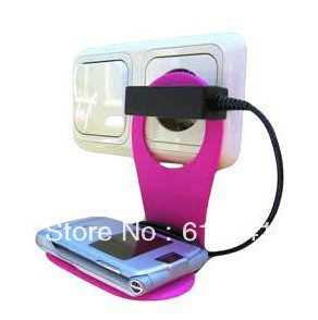 70pcs Foldable Wall Charging Holder for Hanging Cell Phone Cellphone Mobile MP3 MP4 PDA Free Shipping