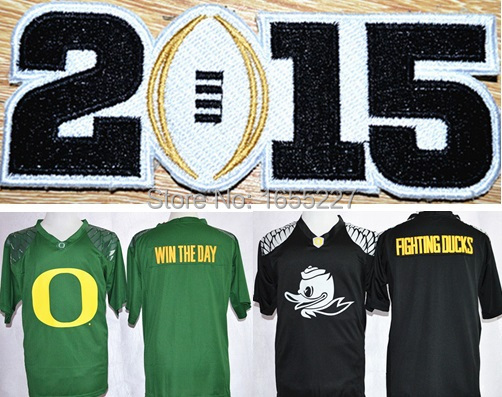 Men NCAA Oregon Ducks blank College Football limited Jerseys with 2015 Champion patch Embroidery(China (Mainland))