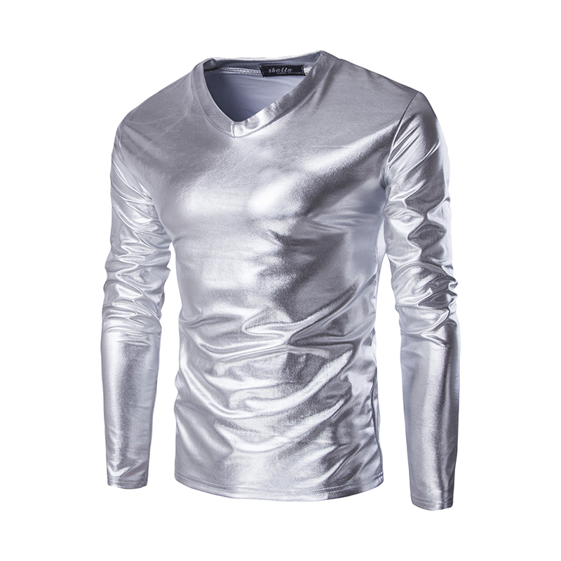 Buy night club men 39 s elastic t shirts for Tahari t shirt mens