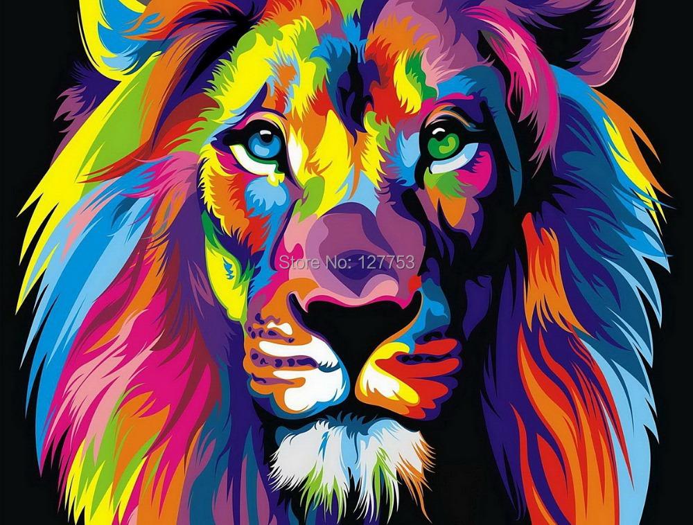 Env o gratis original de los animales pintura al leo - Cuadros con colores calidos ...