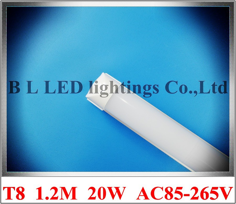 white / warm white frost / clear ( fixture free ) LED tube lamp light T8 1200mm 20W AC85-265V wholesale free shipping(China (Mainland))