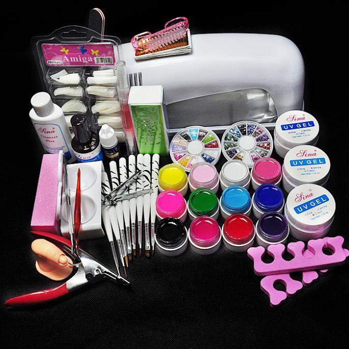 Tools Sets Kits 9w Uv Lamp Uv Gels Gel Kit Cleanser Plus Top Gel ...