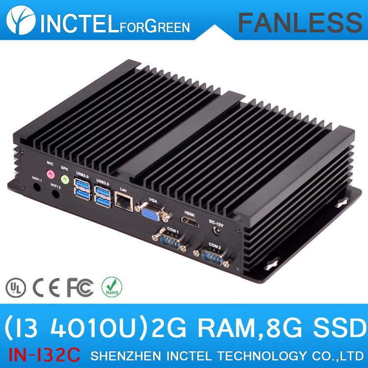 Mini PC Industrial PC Thin Client with Intel i3 4010u processor Dual COM 4 USB3.0 Ports Fanless PC(China (Mainland))