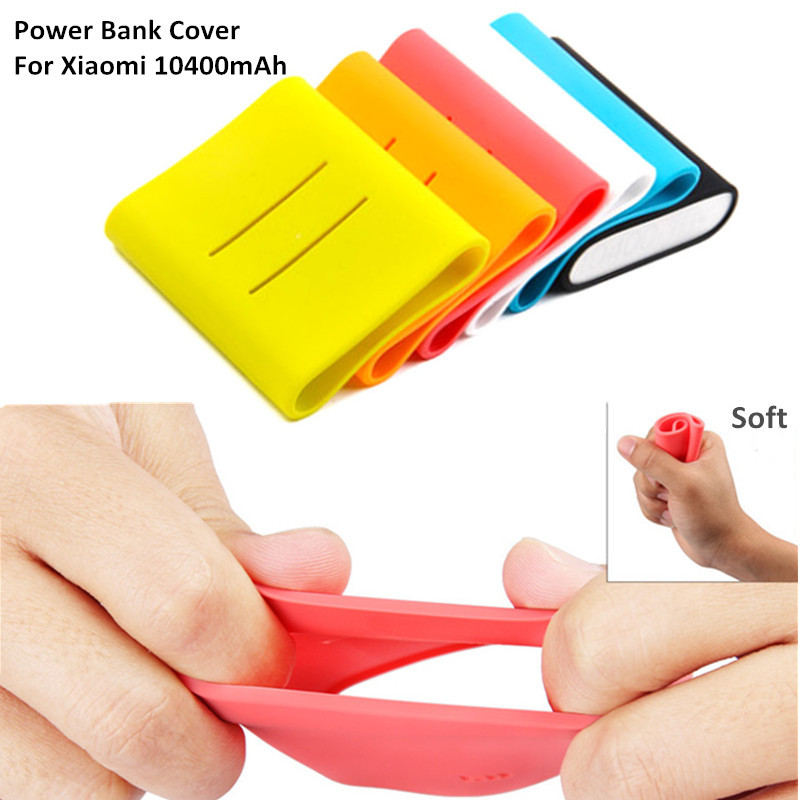 Original Xiaomi Silicone Mobile Phone Protective Back Cover For Xiaomi mi3/mi4i 10400mAh Battery Power Bank Case 6 Colors(China (Mainland))