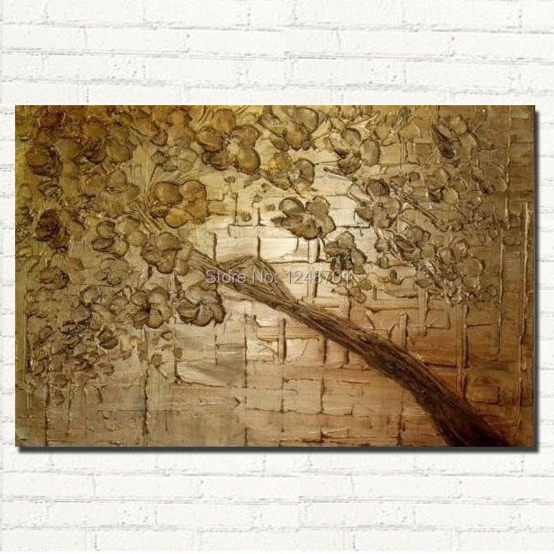 Buy Unframed Large abstract tree palette knife flower Canvas Painting for Living Room Wall Art Picture Gift Decoration Home cheap